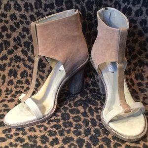 Brunello Cucinelli tricolor leather heels